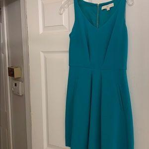 Teal A-line dress size 0 petite